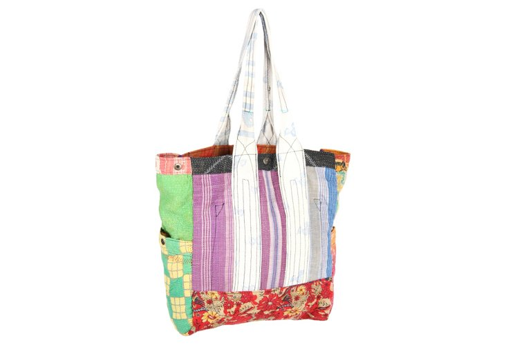 Kantha Multipatch Tote, Butterman