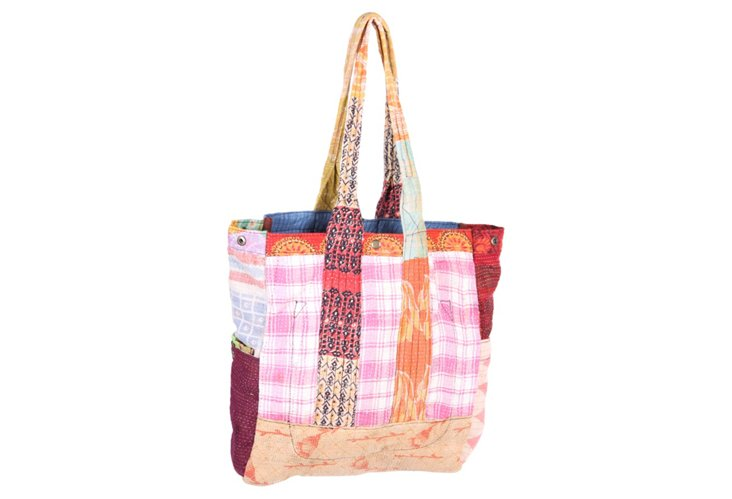 Kantha Multipatch Tote, Chloe