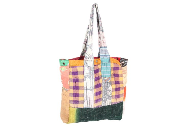 Kantha Multipatch Tote, Halley
