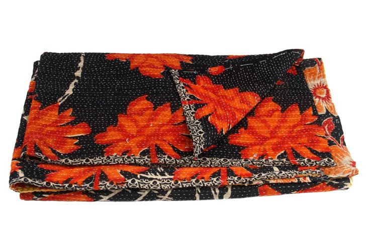 Hand-Stitched Kantha Throw, Pasadena