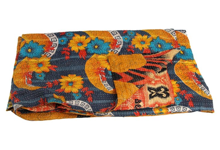 Hand-Stitched Kantha Throw, Nagaland