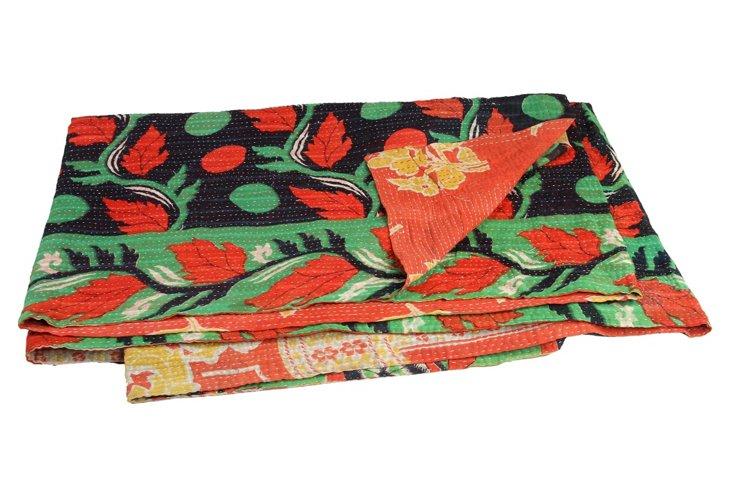 Hand-Stitched Kantha Throw, Natali