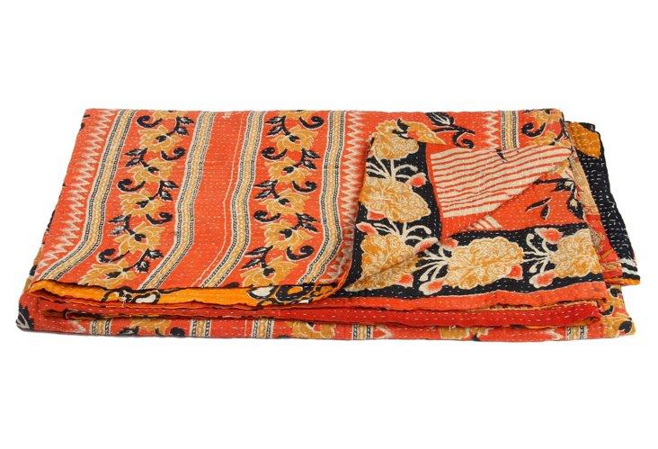 Hand-Stitched Kantha Throw, Salamanca