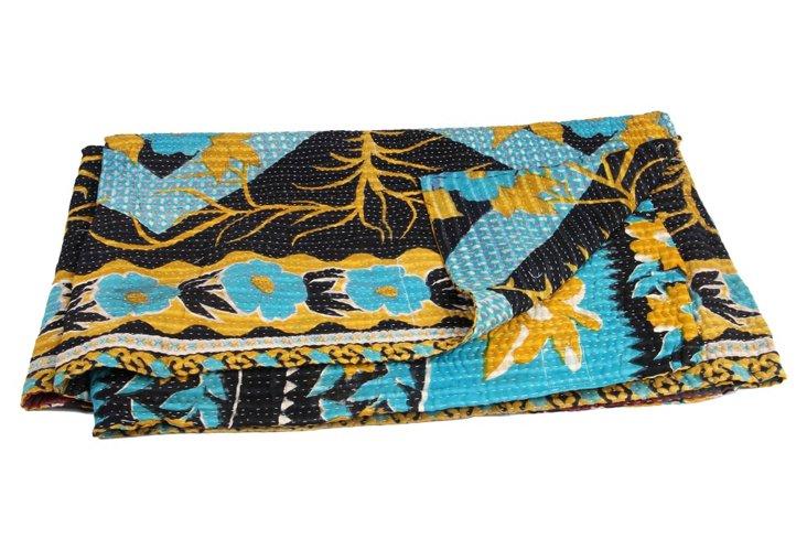 Hand-Stitched Kantha Throw, Antakya