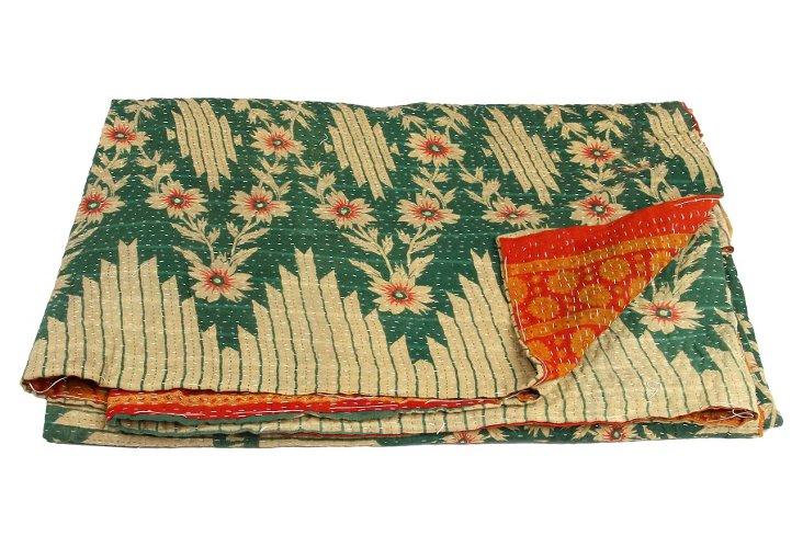 Hand-Stitched Kantha Throw, Navneeta