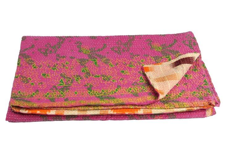 Hand-Stitched Kantha Throw, Repalle