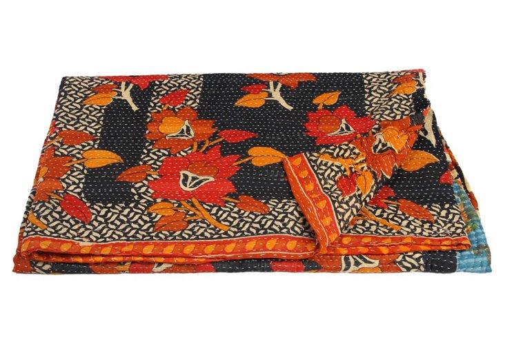 Hand-Stitched Kantha Throw, Lumo