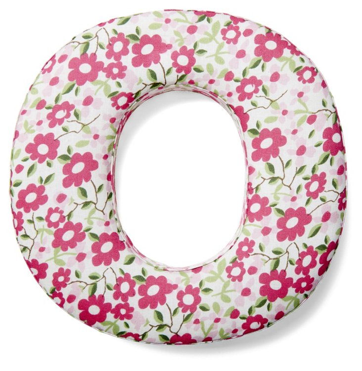 "7"" Fabric Letter, Spring Bouquet O"