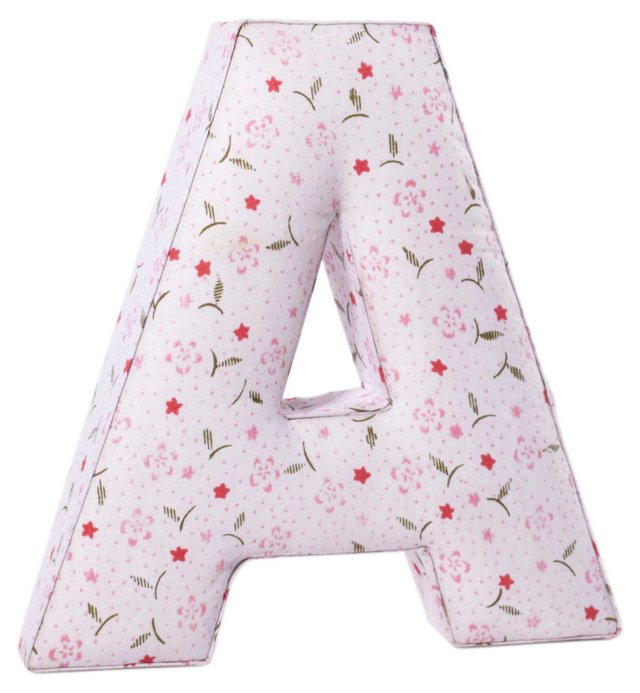 "Fabric Letter ""A"", Blush Spring"