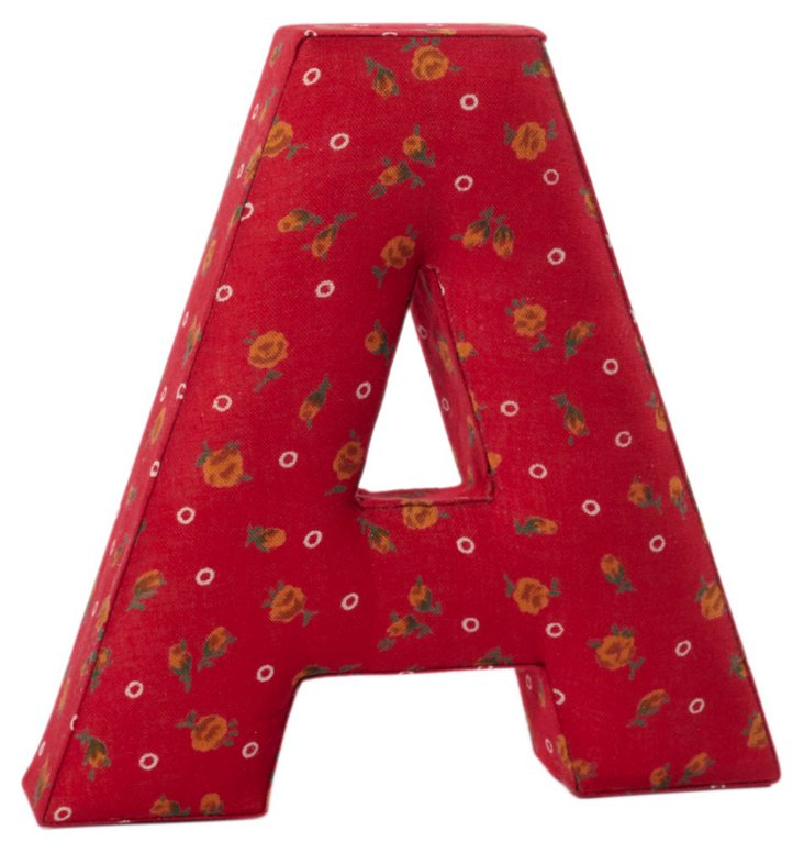 """Fabric Letter """"A"""", Ingalls Red"""