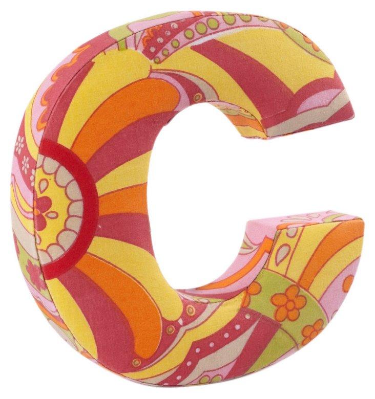 "Fabric Letter ""C"", Hippie Chic"