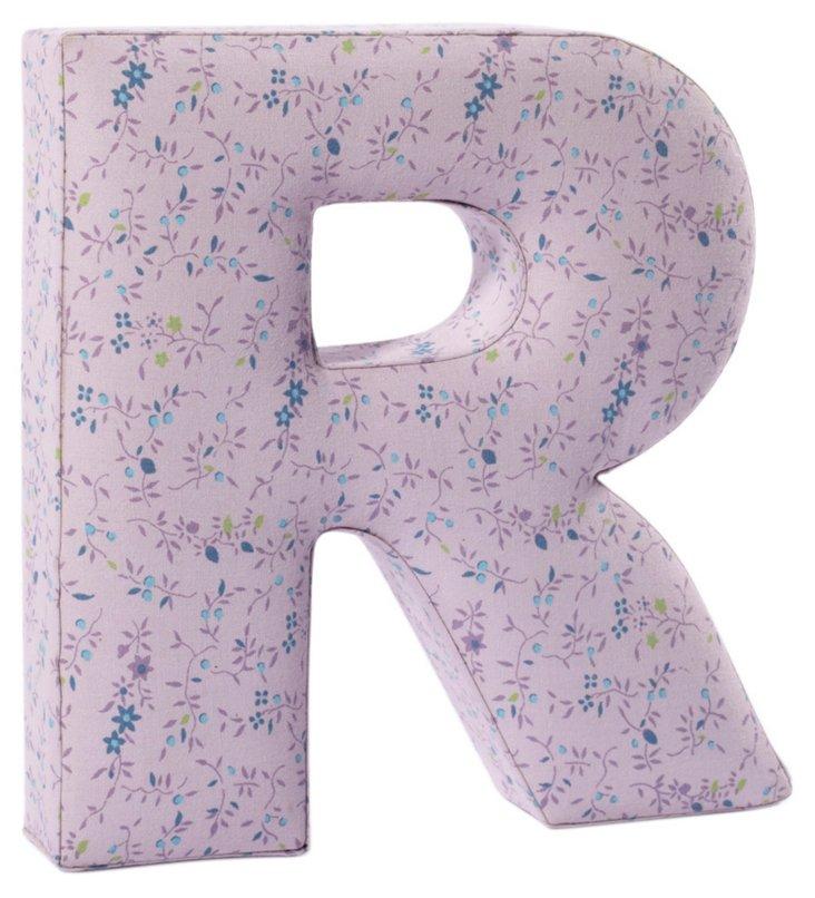 """Fabric Letter """"R"""", Praire Purple"""