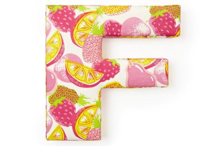 """Fabric Letter """"F"""", Tutti-Frutti"""