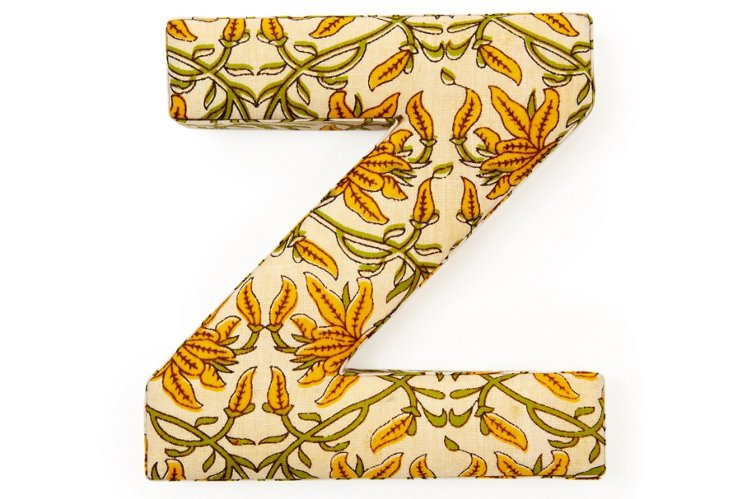"""Fabric Letter """"Z"""", Vintage Orchid"""