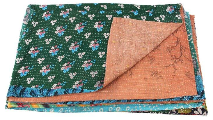 Hand-Stitched Kantha Throw, Ali
