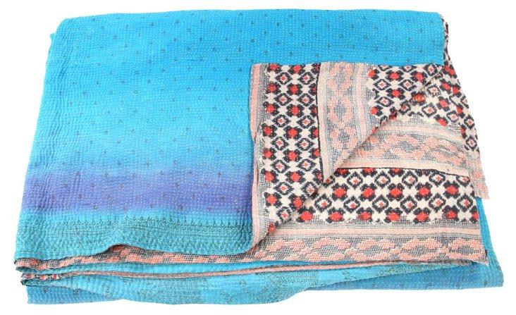 Hand-Stitched Kantha Throw, June