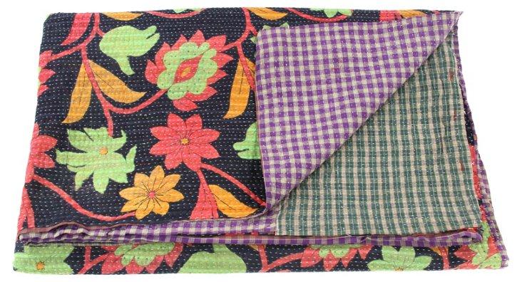 Hand-Stitched Kantha Throw, Kurnool