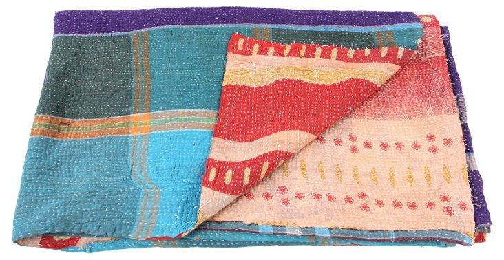 Hand-Stitched Kantha Throw, Villa