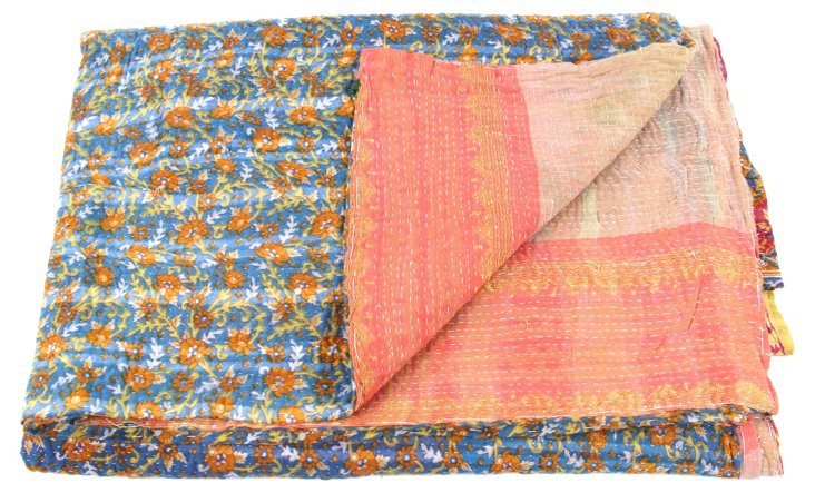 Hand-Stitched Kantha Throw, Teenager