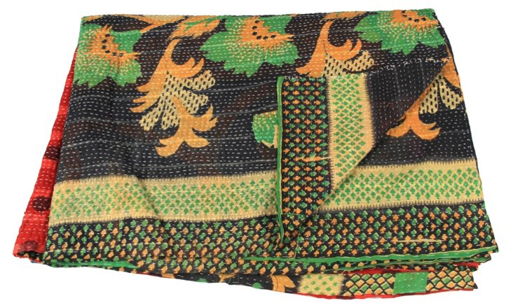Hand-Stitched Kantha Throw, Taylor