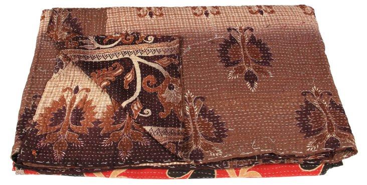 Hand-Stitched Kantha Throw, Erevu