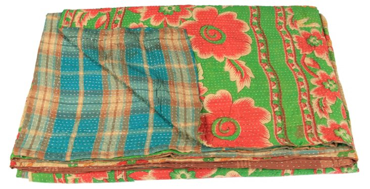 Hand-Stitched Kantha Throw, Kylie