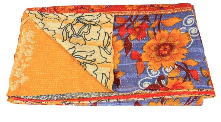 Hand-Stitched Kantha Throw, Betty