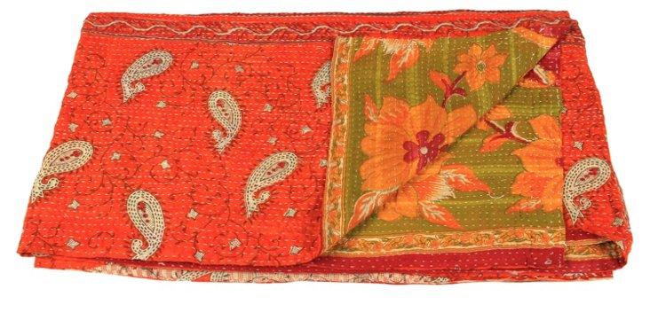 Hand-Stitched Kantha Throw, Franco