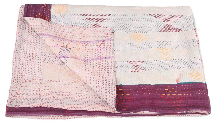 Hand-Stitched Kantha Throw, Missy