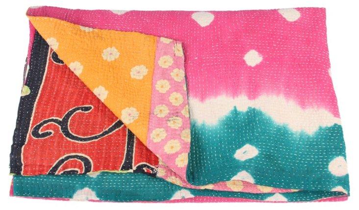Hand-Stitched Kantha Throw, Carey