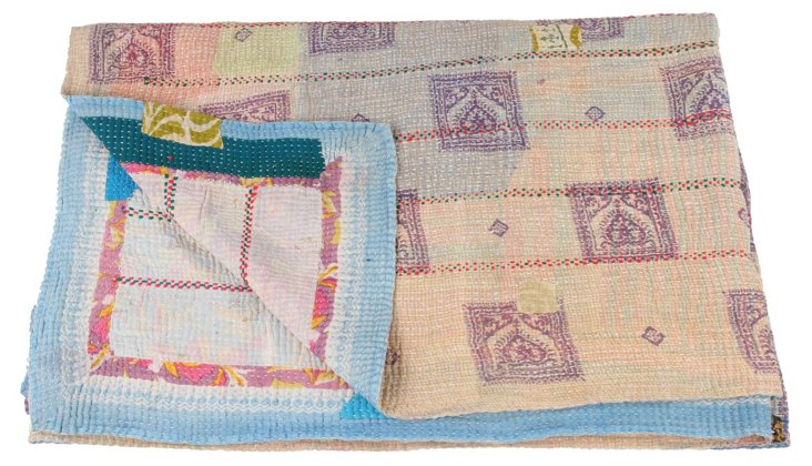 Hand-Stitched Kantha Throw, Kline