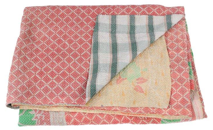 Hand-Stitched Kantha Throw, Hallie
