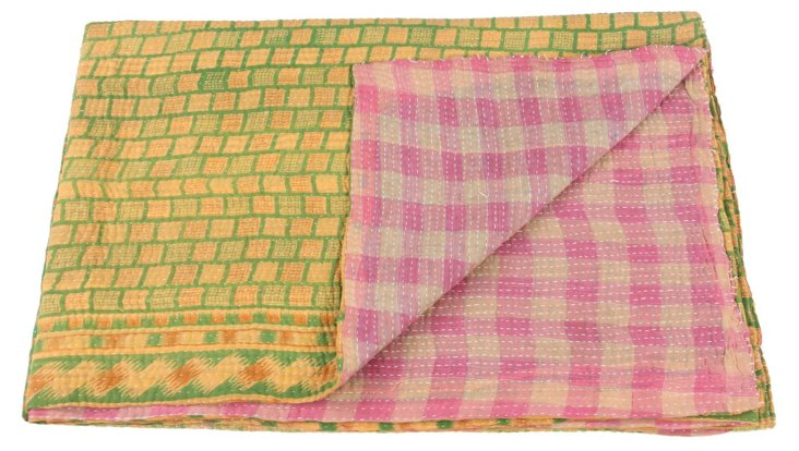 Hand-Stitched Kantha Throw, Meghan