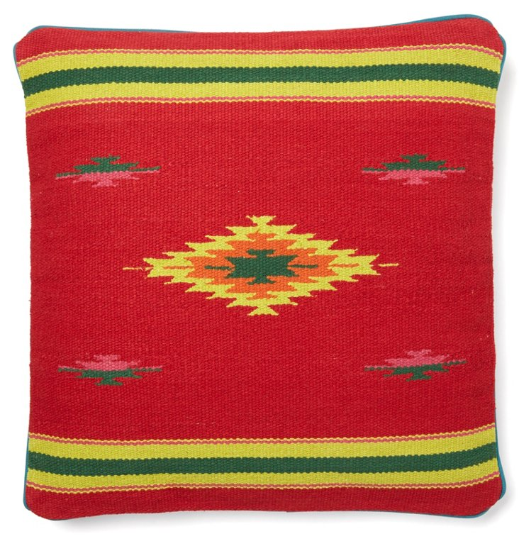 Native Element 18x18 Cotton Pillow, Red