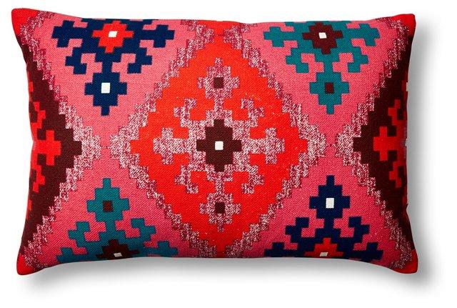 Diamond 16x24 Cotton Pillow, Multi