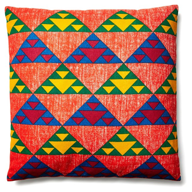 Triangle 24x24 Pillow, Yellow