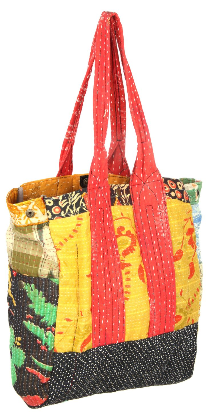 Patchwork Kantha Bag, Pool