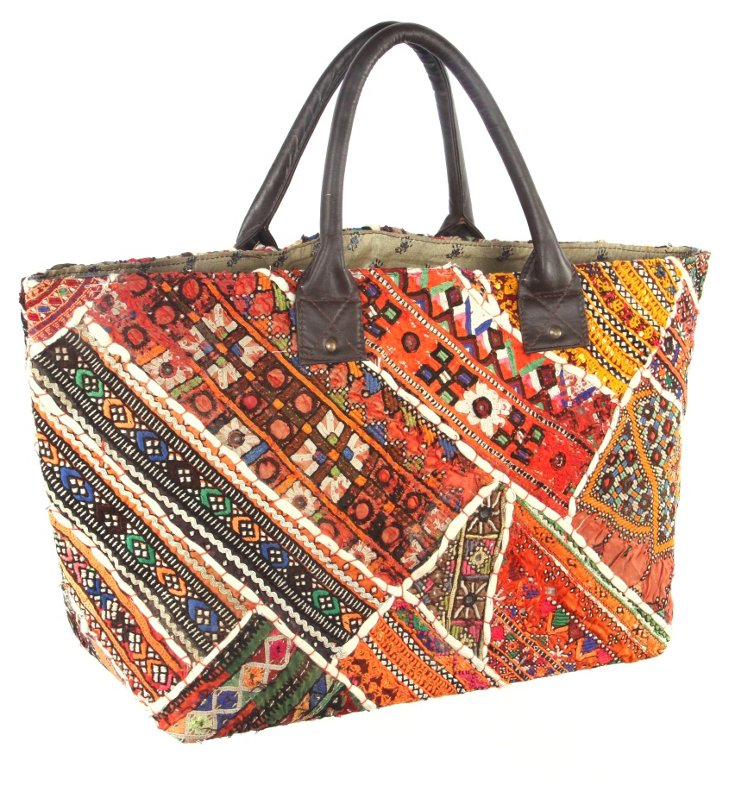 Embroidery Jatti Tote , Chandler