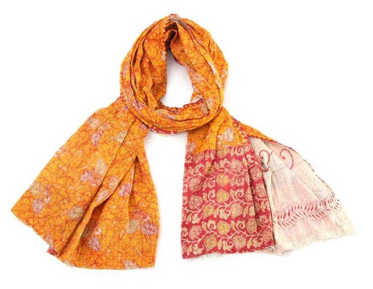 Hand-Stitched Kantha Scarf, Trisha