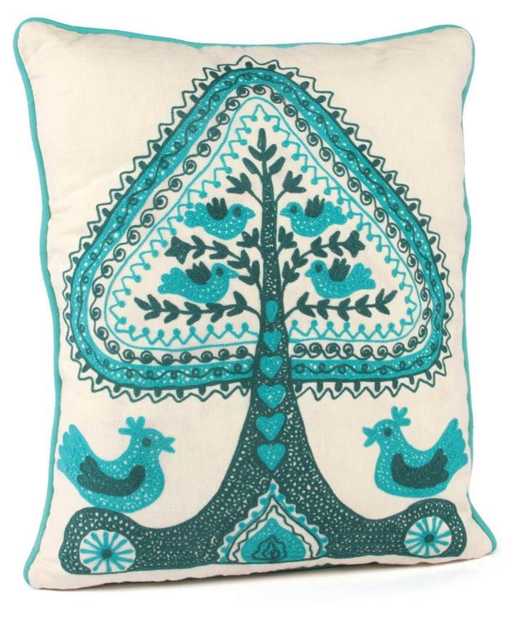Life Tree 16x20 Cotton Pillow, Multi