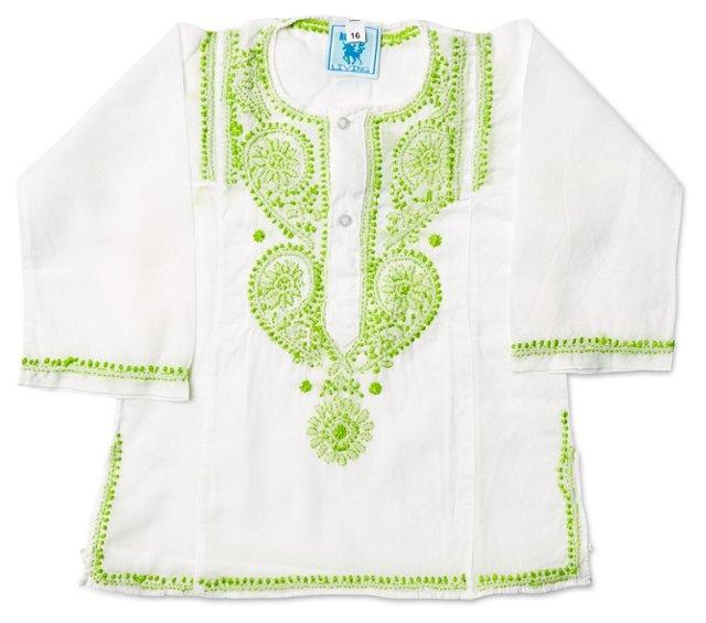Kids' Cotton Kurta Dress, Green