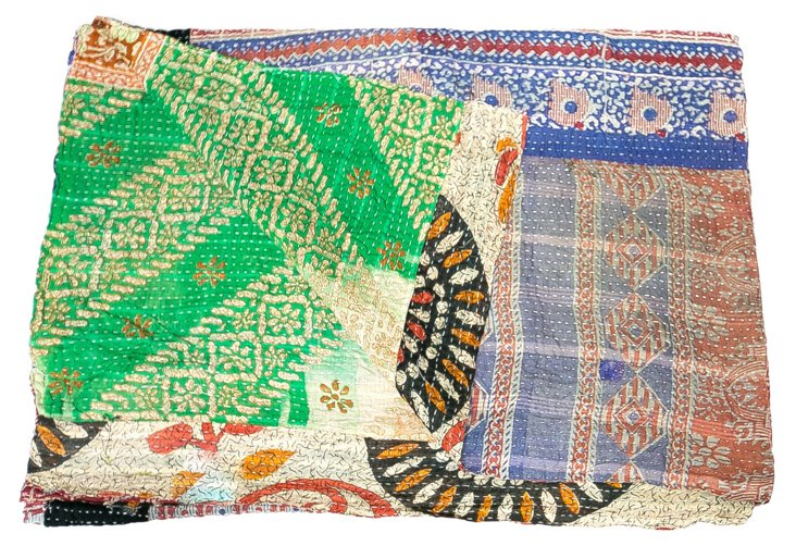 Hand-Stitched Kantha Throw, Brette