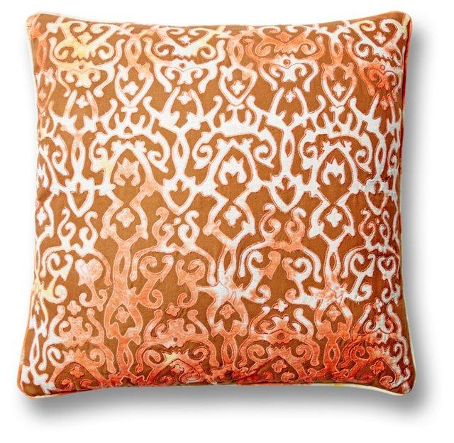 Adia 24x24 Cotton Pillow, Orange