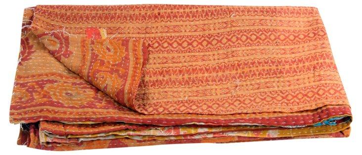 Hand-Stitched Kantha Throw, Ashton