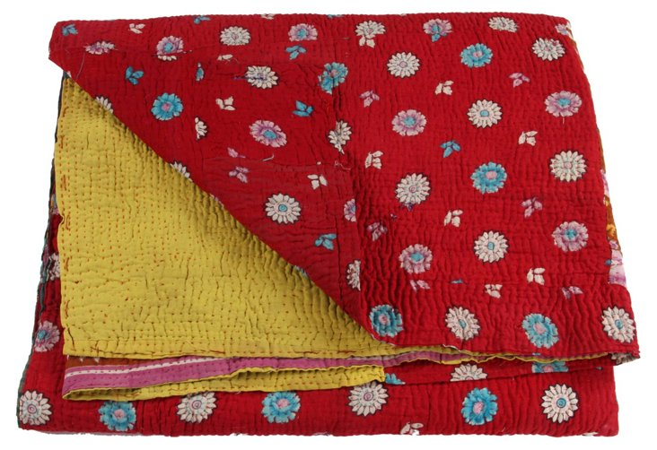 Hand-Stitched Kantha Throw, Mariah
