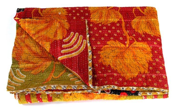 Hand-Stitched Kantha Throw, Chloe