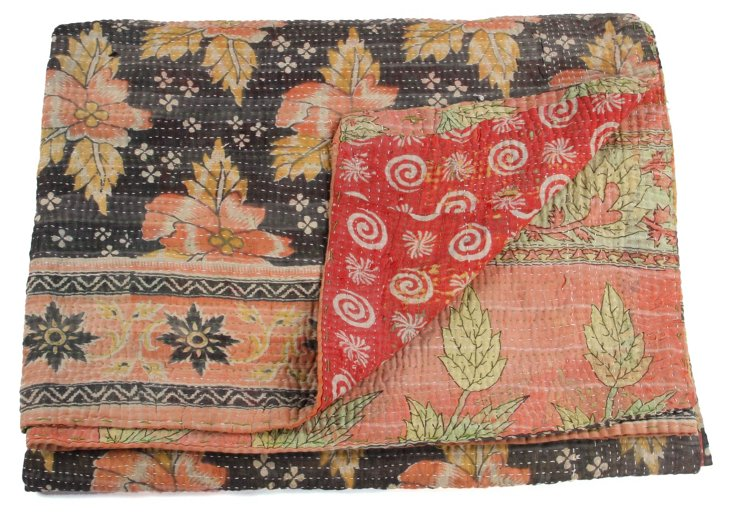 Hand-Stitched Kantha Throw, Ashton