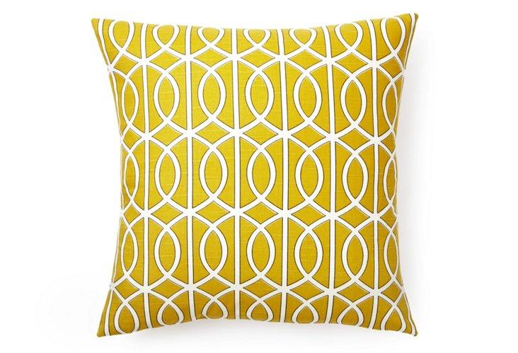 Geo Link 20x20 Pillow, Citron