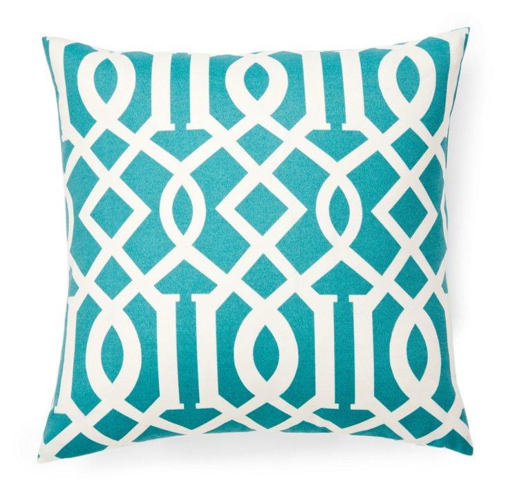 Laguna 20x20 Outdoor Pillow, Blue