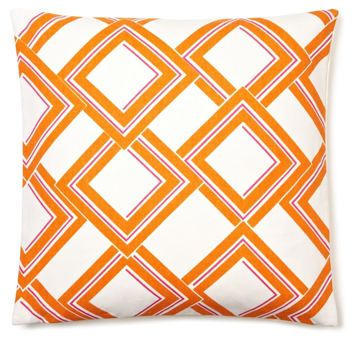 Geo Dune 20x20 Pillow, Orange